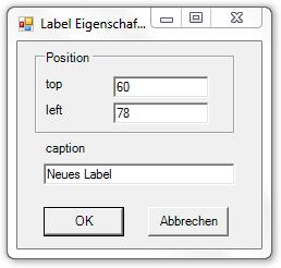 Picture 17: Eigenschaften des Labels