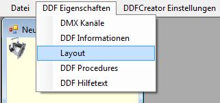 Picture 7: Menüeintrag DDF Eigenschaften