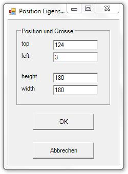 Picture 19: Eigenschaften des Position-Elements
