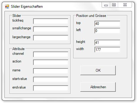Picture 12: Eigenschaften des Sliders