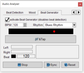 Abbildung 7:Audio Analyser - BeatGenerator