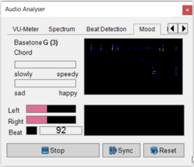Abbildung 6:Audio Analyser - Mood