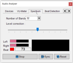 Abbildung 4:Audio Analyser - Spectrum