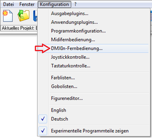 Picture 2: Open the configuration window