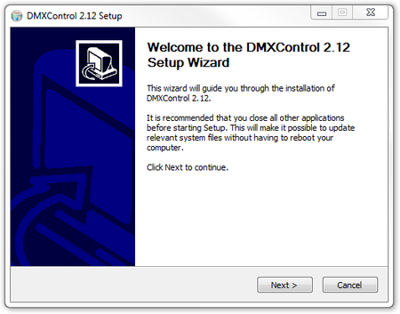 Picture 2: The welcome dialog
